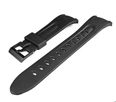 Replacement Watch Strap to fit Casio W42H Black Band for Illuminator Style W-42H
