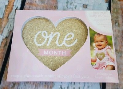 Baby Girl- First Year Belly Stickers gold heart pre-owned