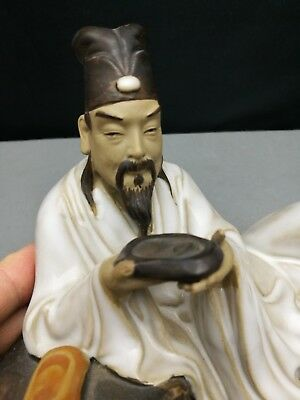 20th antique  Old Chinese Figure of man with inkstone