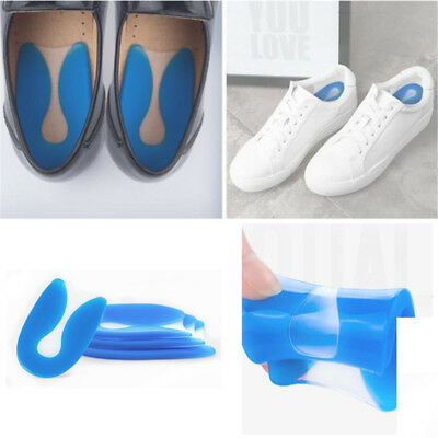 Silicone Heel Support Shoe Pads Orthotic Plantar Care Insert Insoles Cushion N7