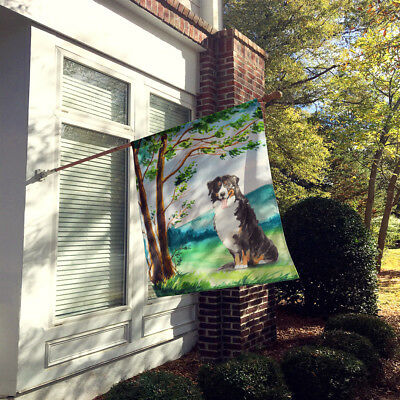 Under the Tree Bernese Mountain Dog Flag Canvas House Size