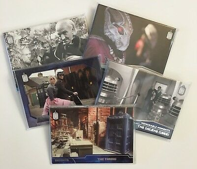 TOPPS Doctor Who 2015 Complete Chase Sets (All 5 Chase Sets Included) *Free S/H*