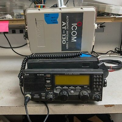 ICOM IC-M710RT Marine Transceiver with HM101 Remote AT-130 Coupler TESTED GOOD