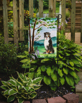 Under the Tree Bernese Mountain Dog Flag Garden Size
