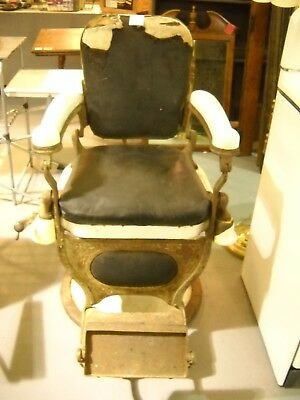 Vintage Theo A. Kochs Barber Chair Barber Shop Hair Salon Man Cave