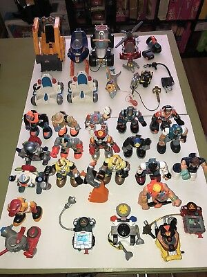 RESCUE HEROES Huge LOT Figures Accessories Jack Hammer Jake Justice Wendy Waters