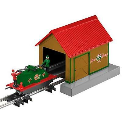 American Flyer  by Lionel 6-48096 Christmas Handcar With Shed, NIB, Sealed
