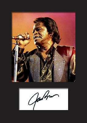 JAMES BROWN #1 Signed Photo Print A5 Mounted Photo Print - FREE DELIVERY