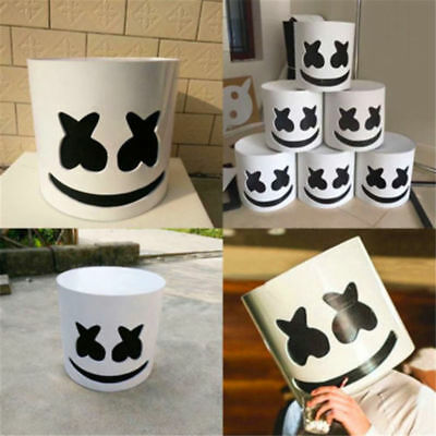 DJ Marshmello Mask Cosplay Costume Accessory Helmet Party Bar Electric Syllable
