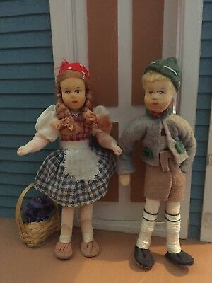 Vintage German Erna Meyer Miniature Dollhouse Dolls