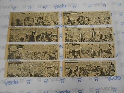 Lot of 8 Terry and The Pirates Daily Comic Strips July 23rd-31st, 1945