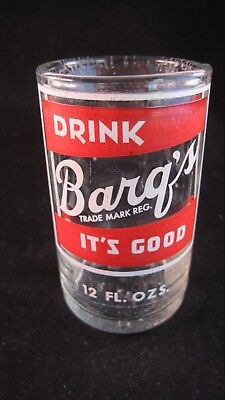 YAVA Glass - Extremely Rare Upcycled Vintage BARQ'S Beverage Bottle Glass
