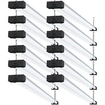 Sunco 12 Pack LED Industrial Shop Light 40W (260W) 5000K Daylight Deluxe 4000 lm