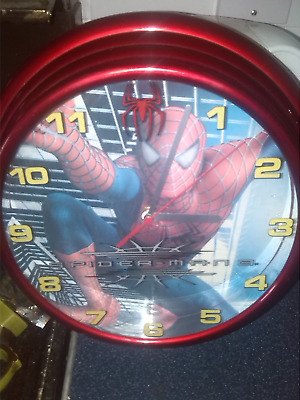 spiderman clock +  plate + egg cup