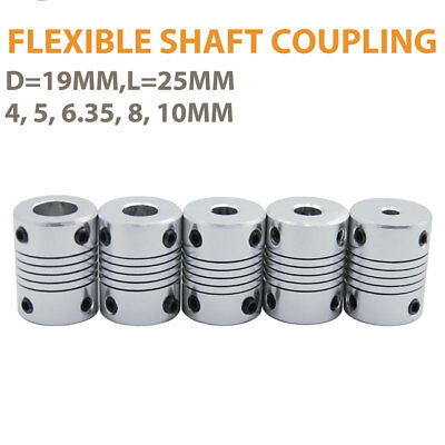 Flexible Shaft Coupling Joint Stepper Motor Coupler Connector Various Size