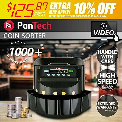 PanTech Black Australian Coin Sorter Automatic Counter Machine sorting ORG