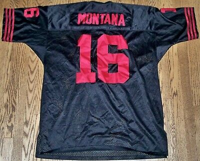 55546c6147a Authentic Mitchell & Ness San Francisco 49ers Joe Montana NFL Jersey Black  Sz 54