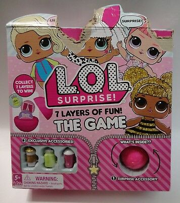 L.O.L Surprise Doll Board Game 7 Layers Of Fun Trade Collect (20096896)