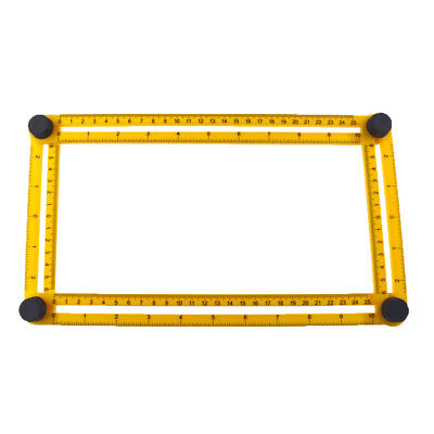 Adjustable Four-Sided Folding Measuring Tools  Multi-Angle Template Scale Ruler