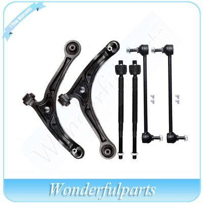 8PC Front Lower Control Arms Front Sway Bar Links Tie Rods Honda Odyssey 1999-04