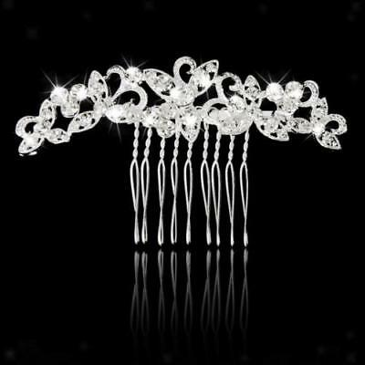Crystal Rhinestone Wedding Bridal Bridesmaid Hair Comb Pin Head Piece