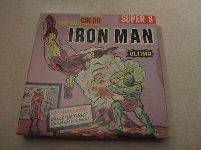 Super 8mm Film Movie Ken Films #323 IRON MAN VS ULTIMO Broken