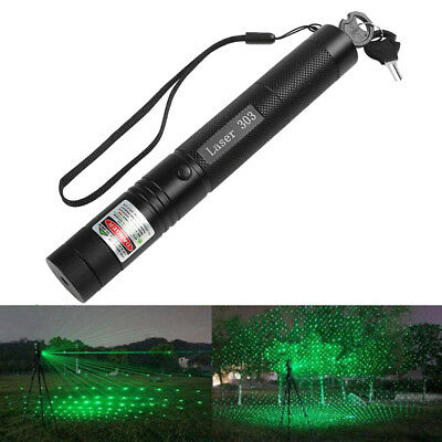 Military 532nm 5mw 303 Green verde Laser Pen Lazer Pointer Adjustable Focus