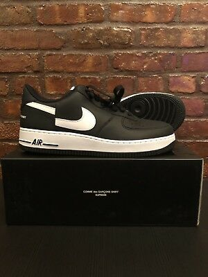 aa8190b22b6544 SUPREME COMME DES Garcons Nike Air Force 1 Size 10 Black IN HAND ...