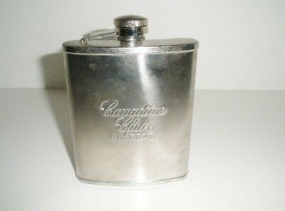 Canadian Club Reserve Stainless Steel Screw Lid Flask