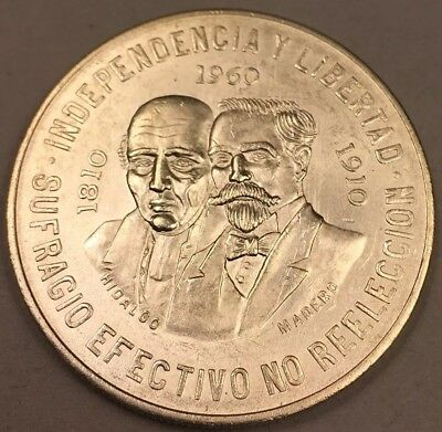 1960 Mexico 10 Peso War of Independence 150th Anniversary - High Grade
