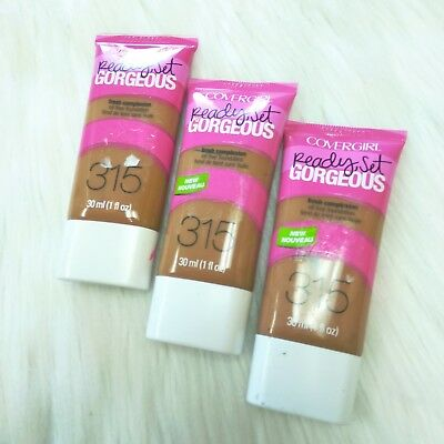 3 New COVERGIRL Ready Set Gorgeous Fresh Complexion Foundation #315 Tawny Fauve