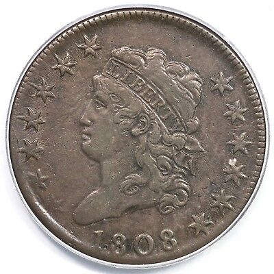 1808 S-277 R-2 PCGS XF 45 Classic Head Large Cent Coin 1c