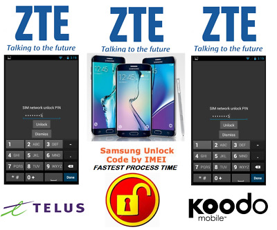 Telus / Koodo Unlock Code For Zte Phone Any Canadian Model