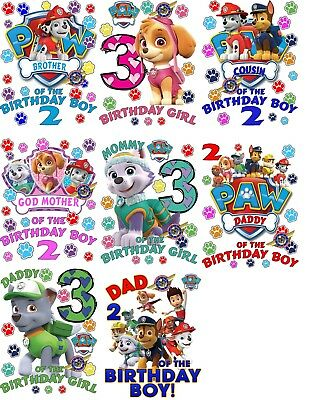 Paw Patrol Shirt Custom Birthday Shirts Personalized T