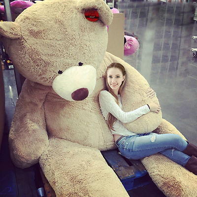 "78"" Giant Big US Teddy Bear Plush Soft Toys Doll Only Cover No Cotton Xmas Gift"