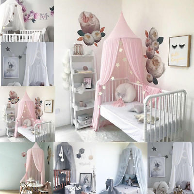 Lovely Baby Mosquito Net Canopy Curtain Round Crib Room Bedroom Star Decoration