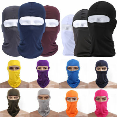 Outdoor Ski Motorcycle Cycling Balaclava Lycra Full Face Mask Neck Ultra Thin @Y