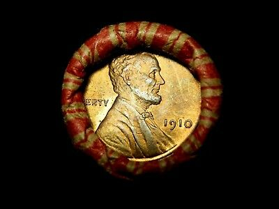 Crimped Shotgun Roll w/ 1893 Indian Head & RED 1910 Lincoln Wheat Cent Showing!