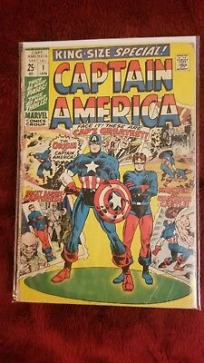 Captain America #1 1971 King Size Special Bucky Silver Age Mighty Marvel Comics