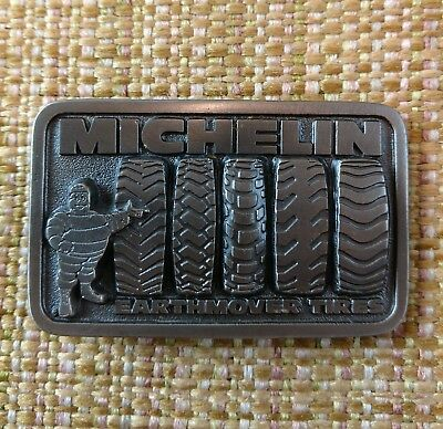 NEW Vintage Michelin Man Earthmover Tires Belt Buckle Great American Buckle