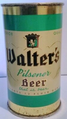 Walter's Green Color Flat Top Beer Can