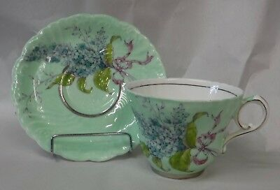 Paragon Lilac Cup Saucer Queen Mary Double Warrant
