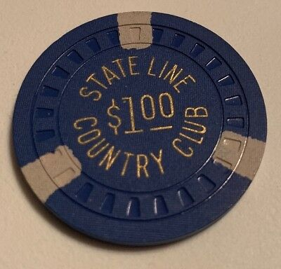 State Line Country Club $1 Casino Chip State Line Nevada 2.99 Shipping