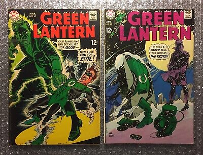 Green Lantern #67 (BAGGETT) & #68 (1ST/ONLY CALIBAX) GIL KANE DC Silver Age LOT!
