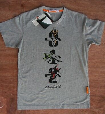 Brand New with Tags RARE Uniqlo Neon Genesis Evangelion 2.0 Gray T-Shirt Size S