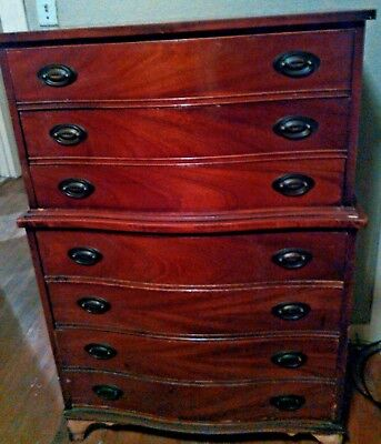 Vintage  1950's  Duncan Phyfe Style Mahogany Chest of Drawers