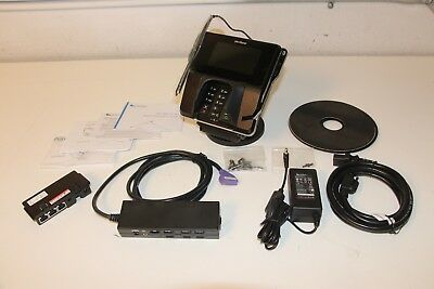 New Verifone Mx915 Credit Card Terminal Kit With Stand Chip Reader/io/ethernet