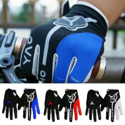 Mens Sports Full Finger Racing Cycling Gloves MTB Bicycle Bike Motorcycle Gloves