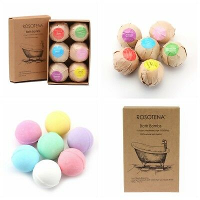 60g Bath Bombs Assorted Scent Skin Moisturize Home Travel Bathing Gift Box
