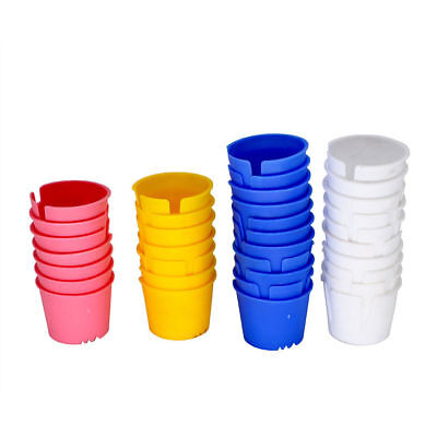 200 Pcs Dental Disposable Prophy Plastic Dappen Dish Bowl Acrylic Container